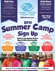Boys & Girls Club of Marion County Summer Camp 2015